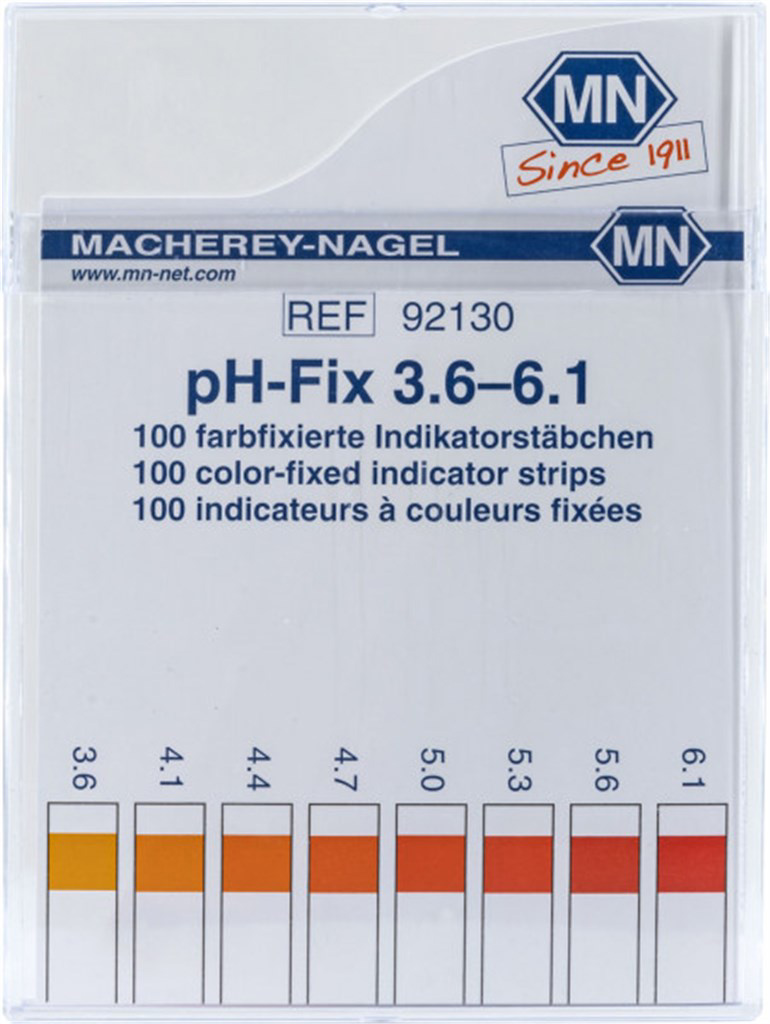 pH-Fix indicator strips, pH 3.6 - 6.1