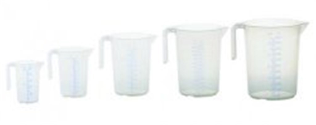 Measuring jug 5000ml, PP, 2 scales transparent, op