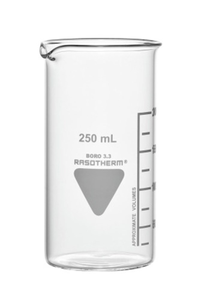 Beakers, tall form, 600 ml, pack of 10