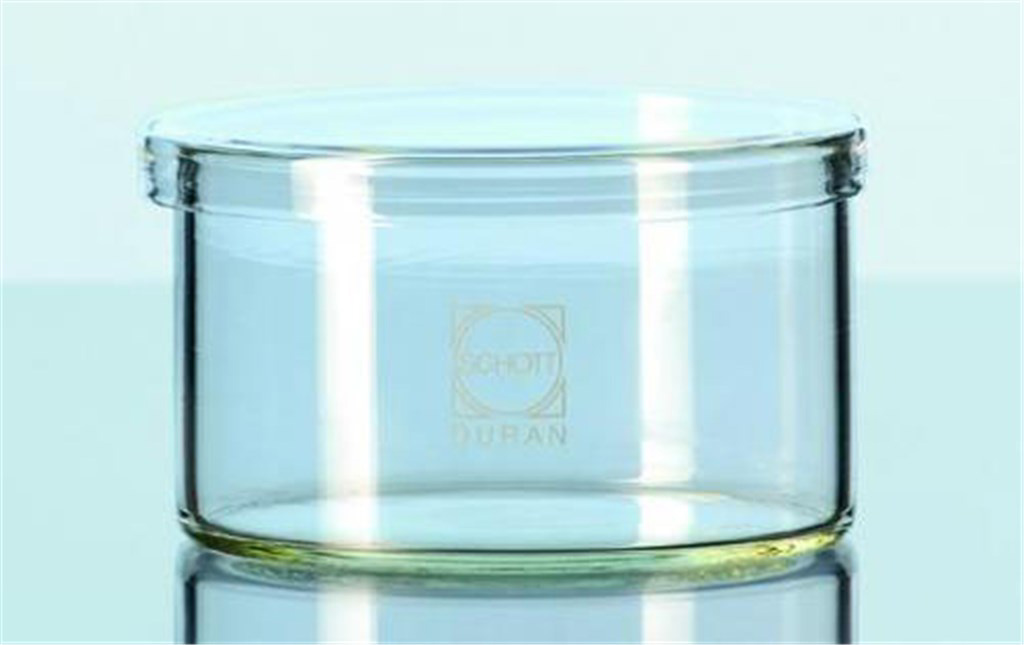 Jars, low form, crystallizing, with drop-on lid,