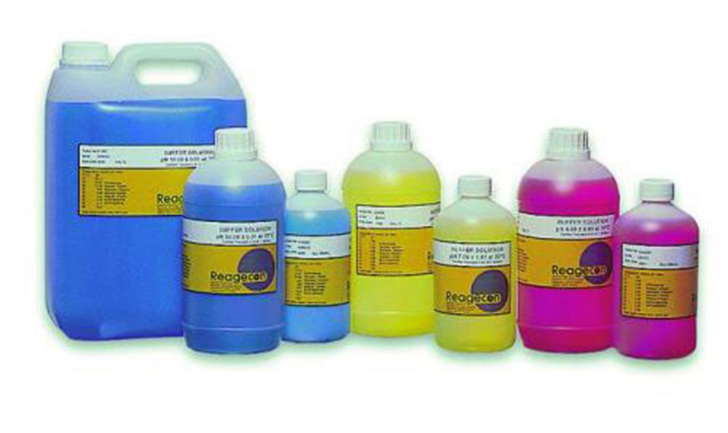 Buffer solutions pH 10,00, @ 20°C, blue, 1000 ml
