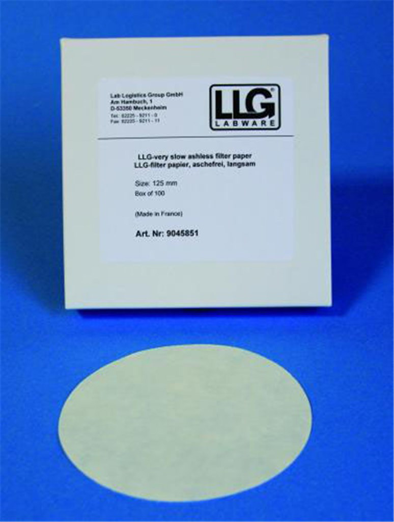 LLG-filter paper,quantitative,slow filter., Ø125mm