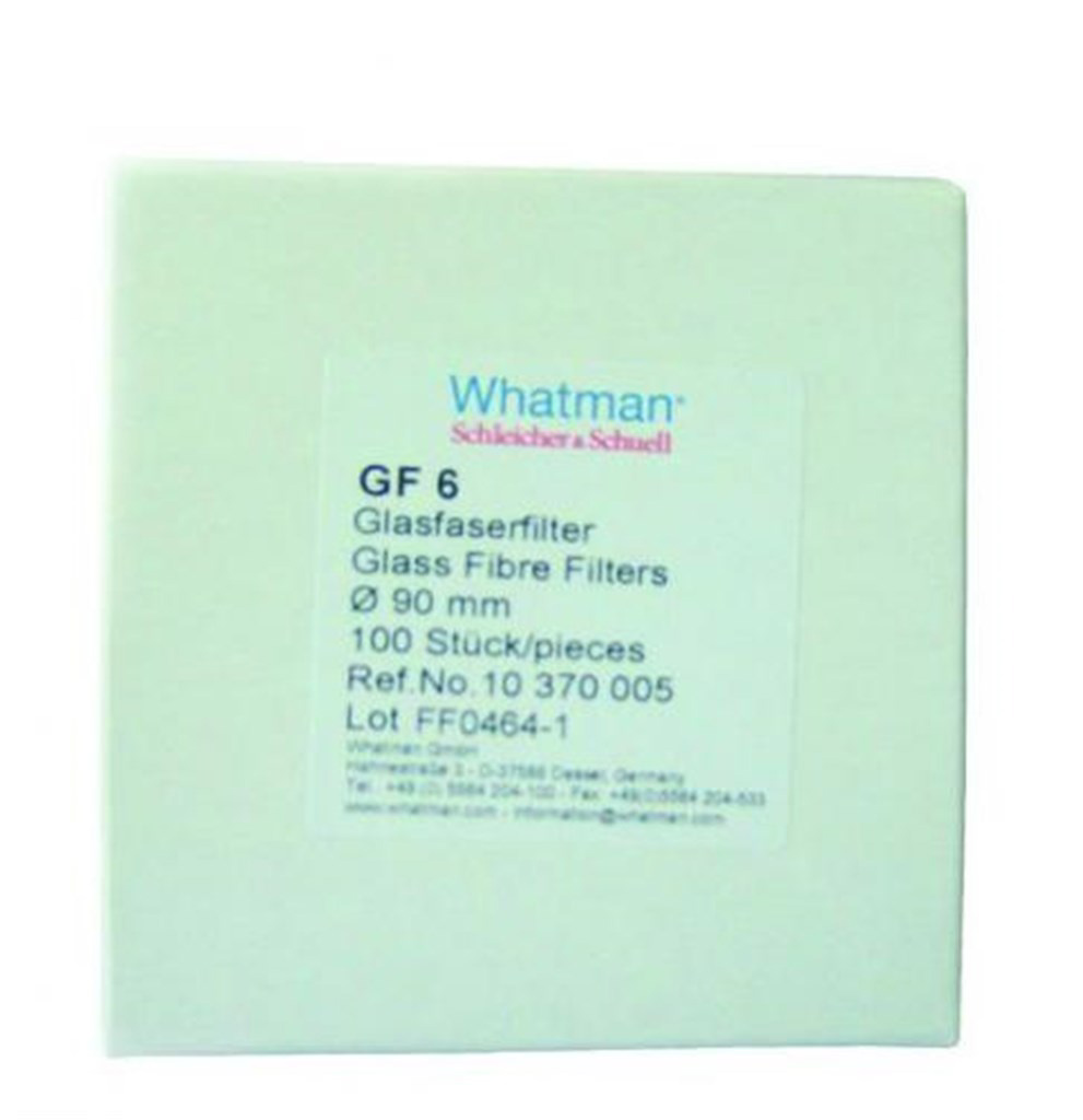 Filter paper, round, pack of 100, GF 6, Ø100 mm