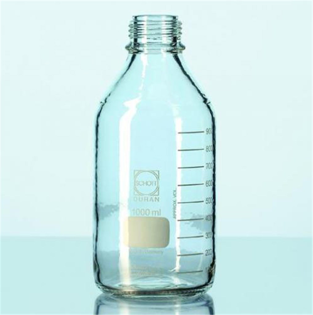 Laboratory bottle 150ml, plastic coated w/o cap