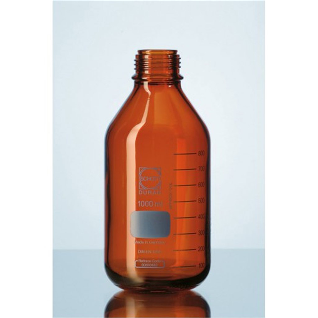 Laboratory bottle 500 ml, ambe r Pressure Plus, GL