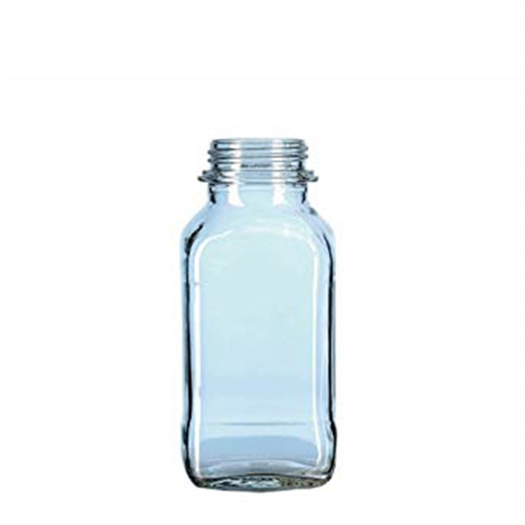 Square screw cap bottle 50 ml wide neck, clear, G