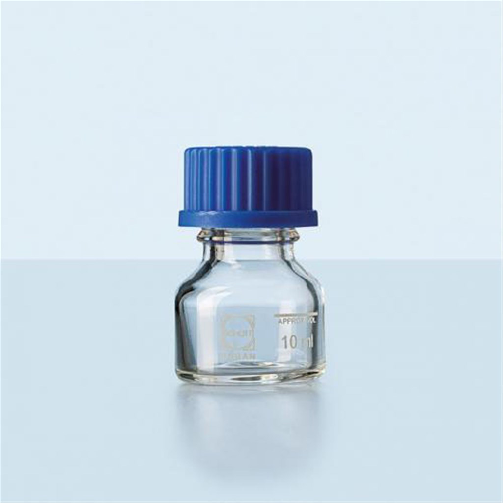Laboratory bottle GL 25, amber, w/o cap, 10 ml