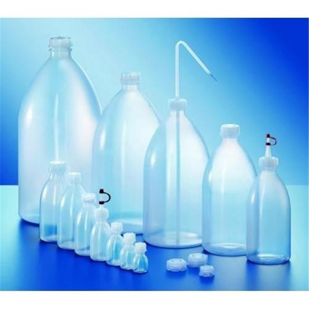 Narrow neck bottles, LDPE, tal l form, natural, wi