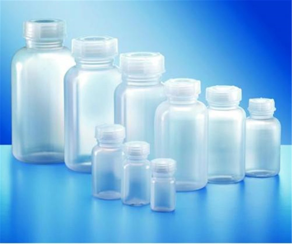LLG bottle, LDPE, wide neck, with lid, 100 ml