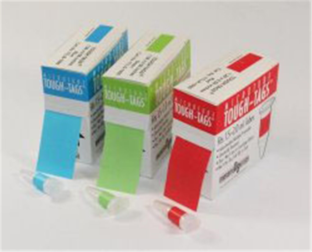 Tough-Tags 21x7mm white, for PCR vials