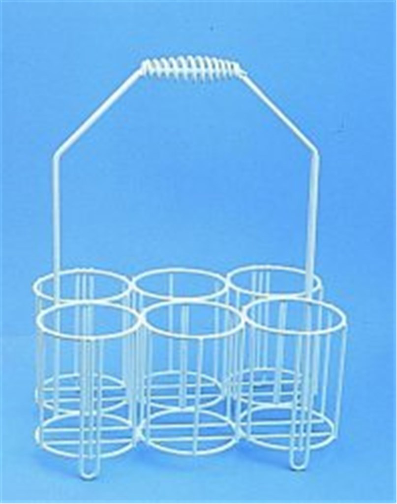 Bottle carriers, PE-coated wir e, For bottles 6 x
