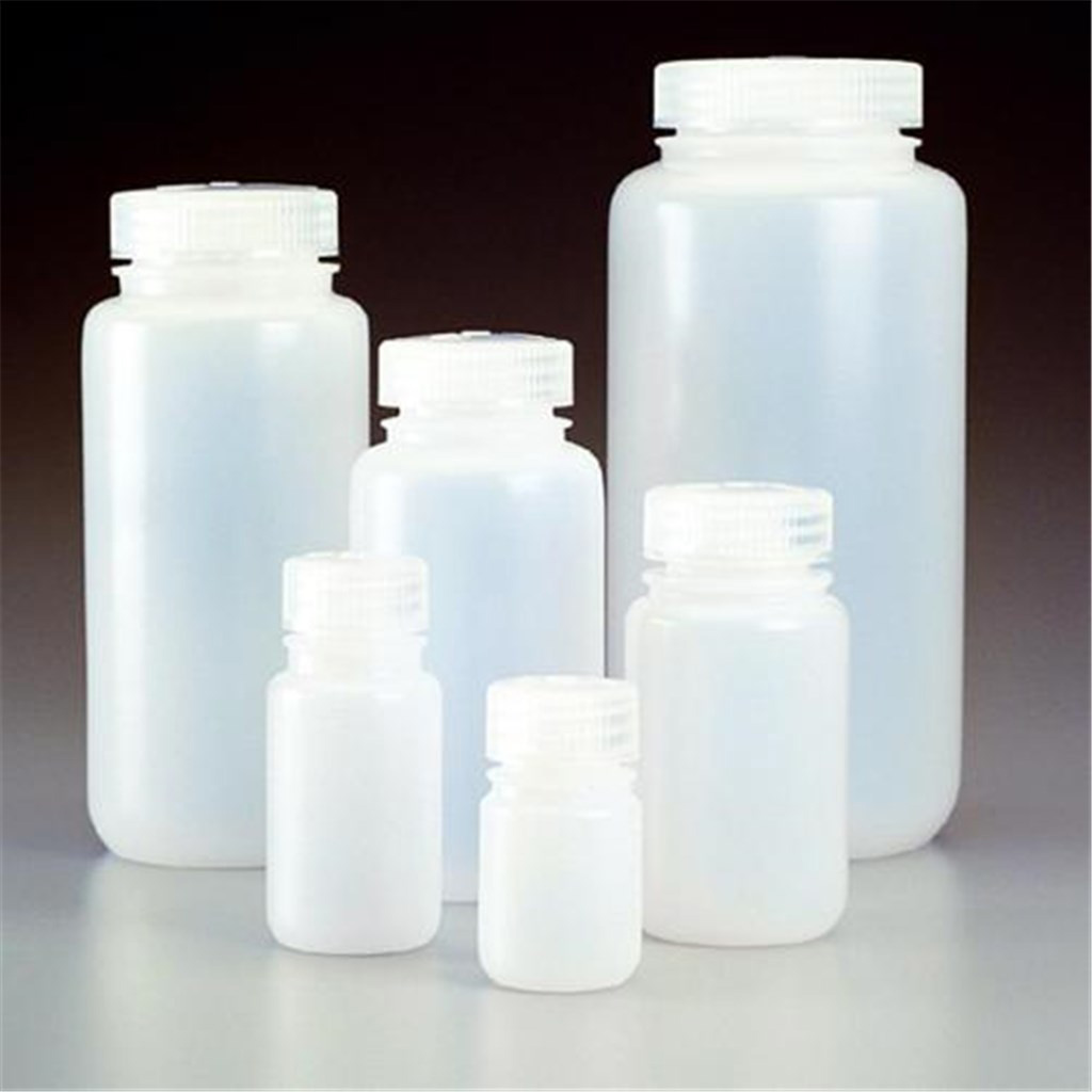 Wide-neck bottles 1000 ml, PE-HD with screw-cap PP