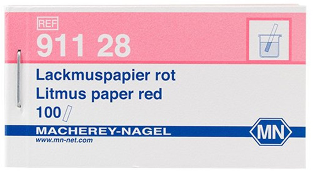 pH paper Litmus, pH 5 - 8, red, 100 strips