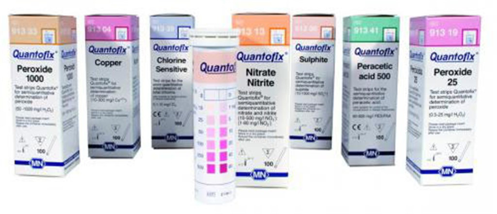 Test strips, Quantofix, For Ti n , Measuring range