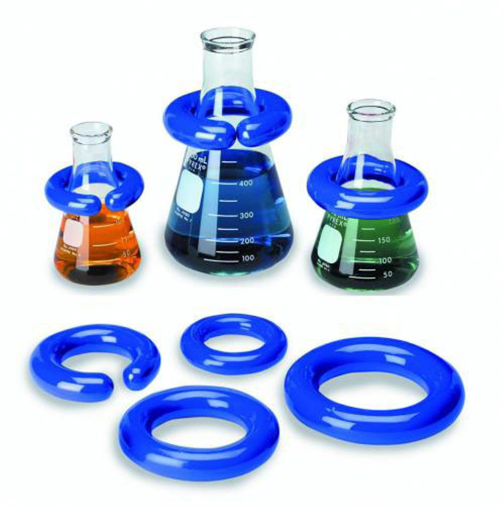 Lab rings for stabilising glas sware in water bath