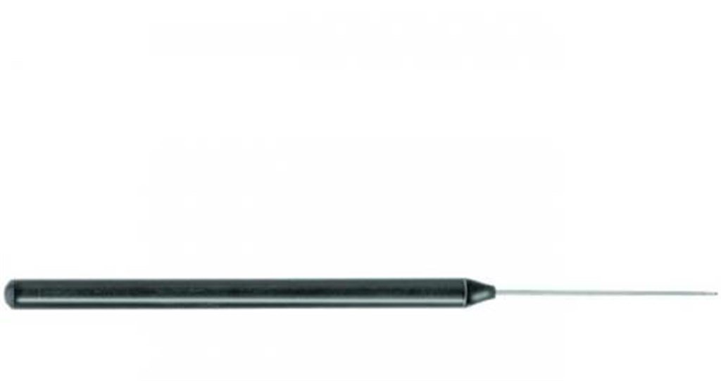 Dissecting needle, with plastic handle, 140 mm