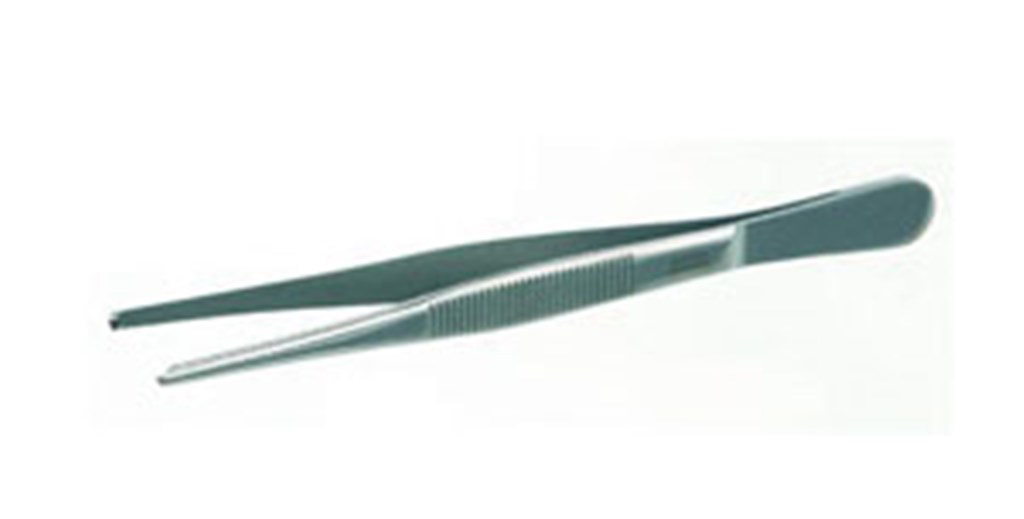 Forceps with tooth grips 1:2, stainless steel, Le