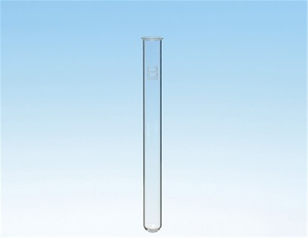 Test tubes, Duran, rimmed and rimless, Dia. 14 mm