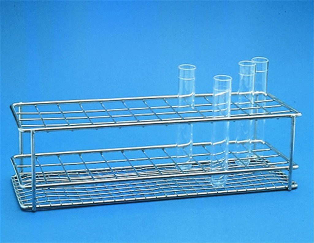 Test tube racks, polished stai nless steel wire, A