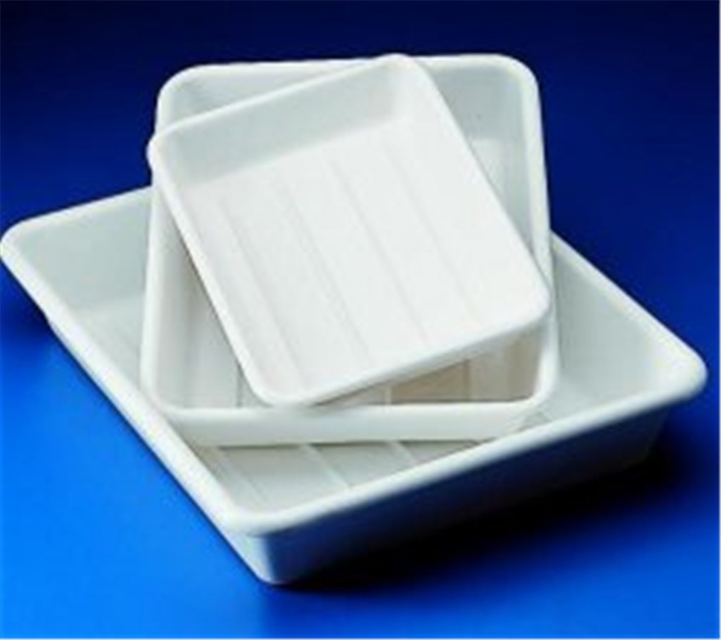Photographic trays, PVC, with ribbed base, Width