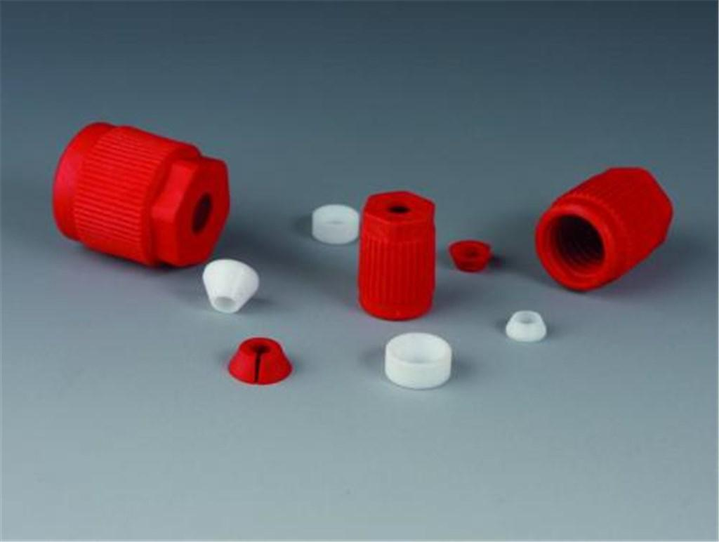 Laboratory threaded joints GL14 0,8mm, PTFE / PP