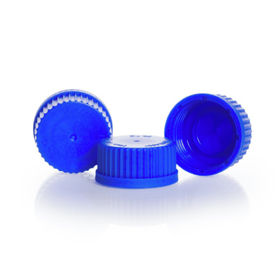 Screw caps,PP,blue,GL 45