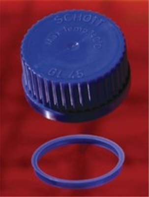 Screw cap, PP, blue, GL 25