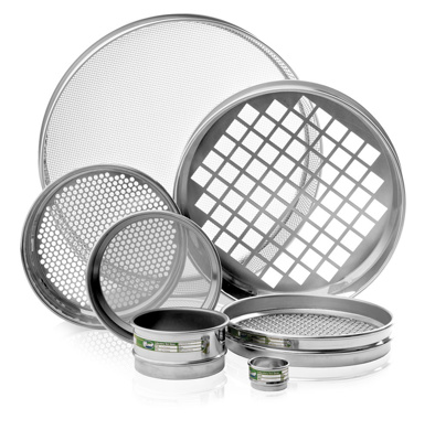 "SS sieve 8"" square hols 16.0mm"