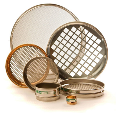 Test sieve brass 300mm 4 mm
