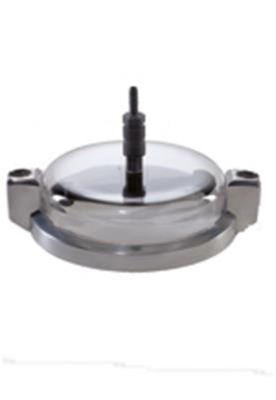 Clamping lid plexiglas with 2 rotation nozzles