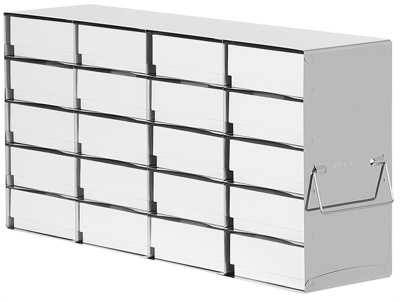 Rack for 50 mm boxes, H:6, D:4, 24 boxes