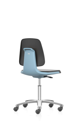 Lab chair Labsit, art. leather Magic 9588, blue