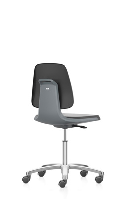 Lab chair Labsit,art. Leather,Magic9588,anthracite