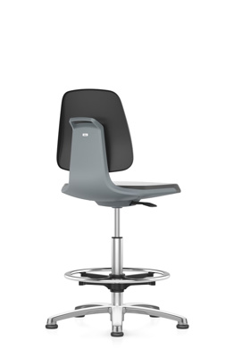 Lab chair Labsit, Foot ring PU foam, anthracite