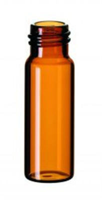 LLG-Crimp neck vial 4 ml, amber 45 x 14.7 mm, labe