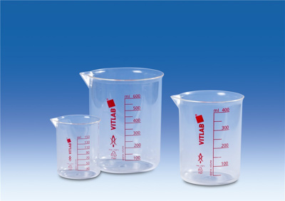 Beakers, Griffin type, PMP, Ma terial PMP , Capaci