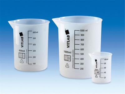 Beakers, low form, ETFE, gradu ated, Capacity 100