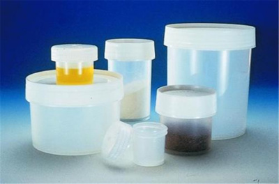 Sample jars 30 ml, PP,with screw cap, 12 pcs