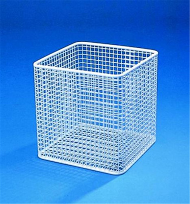 Baskets, nylon-coated wire, wh ite, Width 200 mm,