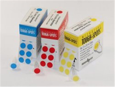 Tough-Spots, round, Ø 13mm yellow, pack of 1000/ro