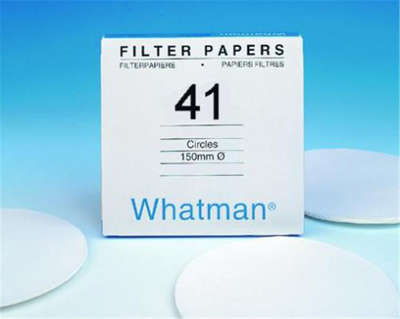 Filter paper, grade 41, Whatma n, Dia. 185 mm