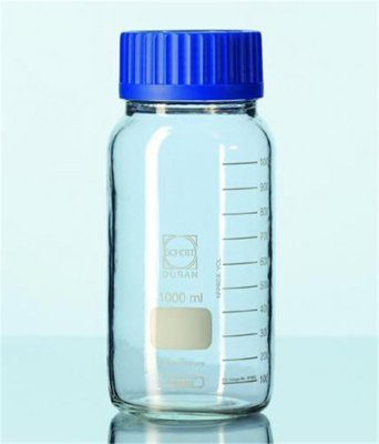 Laboratory glass bottle 3500 ml, clear, protect