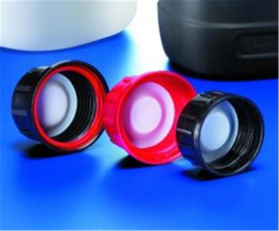 Bell cap, black, PP teflon cup -shaped liner, red