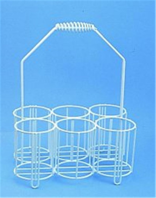 Bottle carriers, PE-coated wire, For 6 x 1000 ml