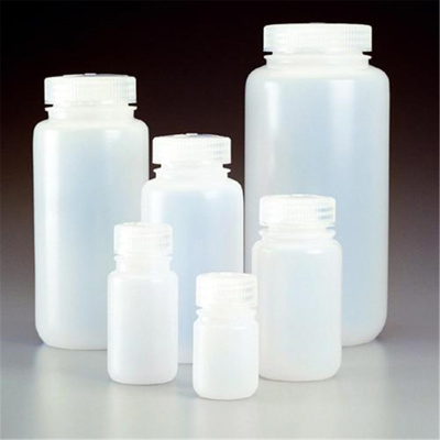Wide neck bottles 30 ml, PE-HD with screw-cap PP,