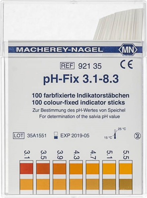 pH-Fix indicator sticks pH 3.1-8.3, 100 pcs.