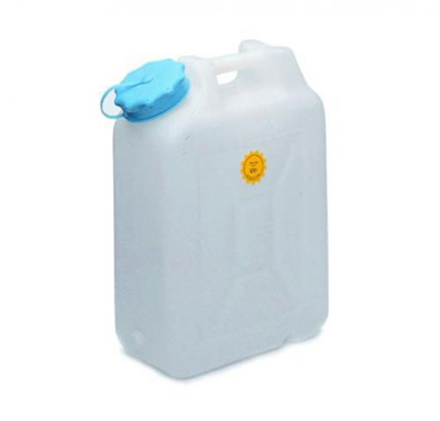 Wide-mouth jerrycans, opaque HDPE, with 88mm nec