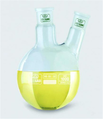 Two-neck round flask 1000ml CN NS24/29, SN NS19/26
