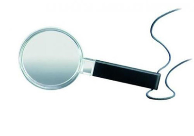 Hand magnifiers, plastic, Magn ification 2.5x , Le