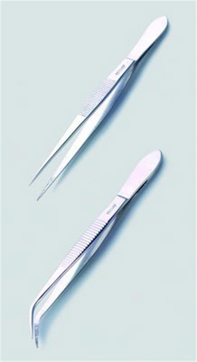 LLG forceps, pointed/curved, 115 mm